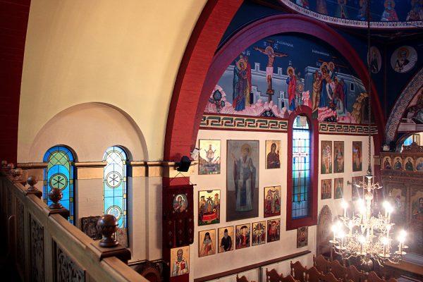 church interior side view
