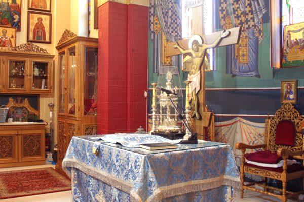 side view of Holy Sanctum St. Nicholaos Cardiff