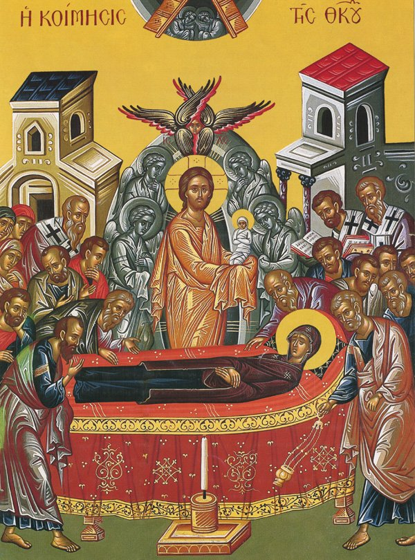 dormition of Vigin Mary icon
